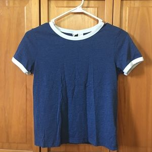 Blue T-Shirt with White collar